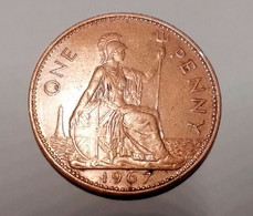 Great Britain 1 Penny, 1967 VF+ - 1902-1971 : Monete Post-Vittoriane