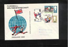 Great Britain 1966 World Football Cup England FDC - 1966 – Engeland