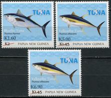 Papua New Guinea 2020. Tuna Fishery. Overprint (MNH OG) Set Of 3 Stamps - Papua-Neuguinea
