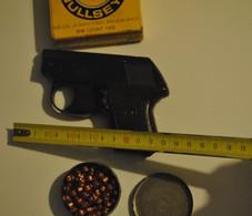 Arme Petit Pistolet Perfecta D.B.P Sans Le Chargeur + 1 Boite De Billes De Plomb + Boite Avec Cartouches A Blanc - Sammlerwaffen