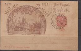 ANGRA - 1898 - 10REIS STATIONERY CARD  CANCELLED - Angra