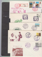 PORTUGAL - 1970s  SELECTION OF 5 ILLUSTRATED SCOUT COVERS WITH SPECIAL POSTMARKS - Lettere