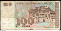 Makedonija,1993,Mazedonien,Macedonia,Macedoine,Pick#12, 100 Denari 1993,as Scan - Macedonia