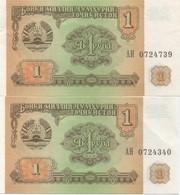 Tadjikistan : 1 Rouble 1994 UNC Prix Par Billet - Tajikistan