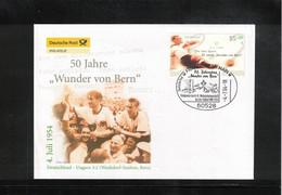 Germany / Deutschland 2004 World Football Cup Switzerland -50th Anniversary Of Germany World Champion Interesting Letter - 1954 – Zwitserland