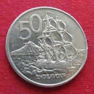 New Zealand 50 Cents 1988 KM# 63 Die Variety A  Nova Zelandia Nuova Zelanda Nouvelle Zelande - Nieuw-Zeeland