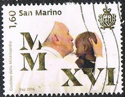 2016 - SAN MARINO - GIUBILEO DELLA MISERICORDIA / JUBILEE OF MERCY - USATO / USED. - Gebraucht