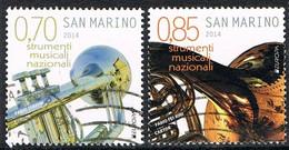 2014 - SAN MARINO - EUROPA CEPT - STRUMENTI MUSICALI / MUSICAL INSTRUMENTS - USATO / USED. - 2014