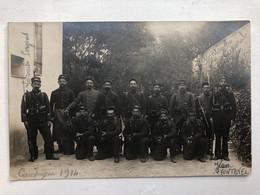Soldats Francais In Uniform Named Campagne 1914 Kepi 124 Souvenir De Fotre Fills - Guerra 1914-18