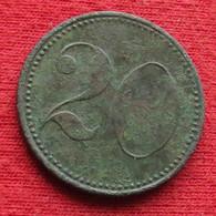 Germany Pforzheim 20 Pfennig No Date  Baden Alemania  Allemagne Alemanha Zinc Notgeld 992 - Sin Clasificación