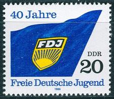 DDR - Mi 3002 - ** Postfrisch (C) - 20Pf      40 Jahre FDJ - [6] Democratic Republic