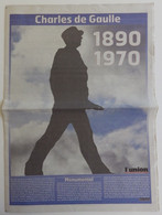 L'Union 10 Novembre 2010 Hors-série Ou Supplément Général Charles De Gaulle 1890-1970, 40 Ans Du Décès - 1950 - Nu