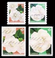 Canada (Scott No.3167-70 - Gardenia) (o) Self Adhesive Set Coil - 1952-.... Reinado De Elizabeth II