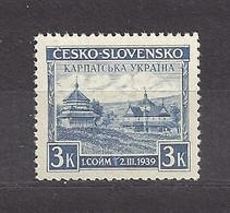 Czechoslovakia Carpatho-Ukraine 1939 MNH ** Mi 1 Sc 254B, Yt 354, Sg 393c Ukraine.Tschechoslowakei. - Czechoslovakia