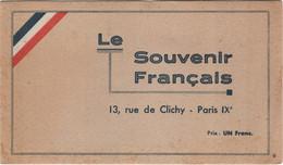 """Carnet De 20 Vignettes """"le Souvenir Français"""" Superbe - 3 Scans - Militair"""