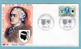 FDC France 1968 - Bicentenaire Du Rattachement De La Corse à La France - YT 1572 - 20 Ajaccio - 1960-1969