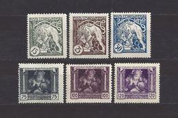 Czechoslovakia 1919 MNH ** Mi 34-39 Sc B124-B129 Bohemian Lion And Mother And Child.Tschechoslowakei.c11 - Czechoslovakia