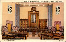Louisiana Baton Rouge The State Capitol House Of Representatives Curteich - Baton Rouge