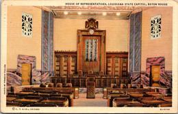Louisiana Baton Rouge The State Capitol House Of Representatives 1941 Curteich - Baton Rouge
