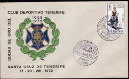España - FDC - 1972 - Club Deportivo Tenerife - A1RR2 - Club Mitici