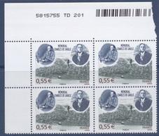 N° 4243 Mémorial Charles De Gaulle , Valeur Faciale 0,55 € X4 - Nuovi