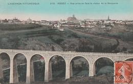 T6-12) RODEZ (AVEYRON) VUE PRISE EN FACE LE VIADUC DE LA GASQUERIE - ( COULEURS ) - Villefranche De Rouergue