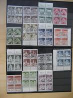 Bund Michel Große Bauwerke 489-503 Viererblocks Satz Gestempelt (5962) - Usados