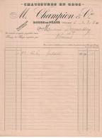 1930 CHAUSSURES EN GROS M. CHAMPION & Cie BOURG DE PEAGE DROME A MADAME BARMASSON ROMANS - 1900 – 1949