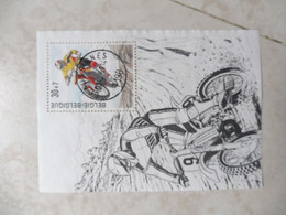 Belgique Bloc 79 Motocross 1999 Oblitéré / Belgie  Blok 79  Gestempelt Mooie 1999 ( Ecaussines ) - Usados