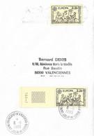 Timbres Sur Lettres 1989 N° 378-79 Europa Cote 18€ - Cartas