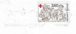 Timbres Sur Lettres 1989 N° 378-79 Croix-Rouge Cote 8€ - Cartas