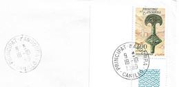 Timbres Sur Lettres 1989 N° 381 Pièce De Ceinture Obl. De Canillo Cote 5,50€ - Cartas
