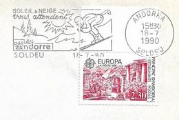 Timbres Sur Lettres 1990 N°388 EUROPA Cote 6€ - Cartas