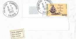Timbres Sur Lettres 1990 N°392 Encensoir Soldeu Pour Le Liechtenstein Cote 6€ - Cartas