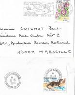 Timbres Sur Lettres 1990 N°393-4 Nature Cote 9,50€ - Cartas