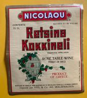 16239 - Retsina Kokkineli  Rosé Nicolaou Grèce - Autres