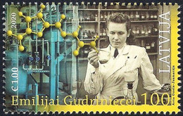 Latvia Lettland Lettonie 2020 (12) Latvian Chemist Emilija Gudriniece 100 - Nitrofurazone - Lettonia