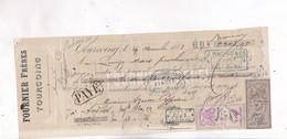 2 TIMBRES FISCAUX  SUR MANDAT, No 282 Et No 314  En 1883! - Fiscales