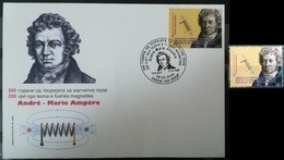 MACEDONIA NORTH 2020 - The 200th Ann. Of The Theory Of Magnetic Field Of Andre-Marie Ampere MNH + FDC - Macedonië