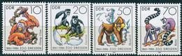 DDR - Mi 3019 / 3022 - ** Postfrisch (B) - 125 Jahre Dresdner Zoo - [6] Democratic Republic