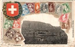 77845- Prägedruck Ak Briefmarken Motiv, Chiasso Kanton Tessin 1900 - TI Ticino