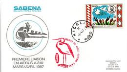 Kigali Entebbe 1987 - Inaugural Flight 1er Vol Erstflug Primo Volo -  SABENA Airbus A 310 - Rwanda Uganda - Oiseau - Posta Aerea