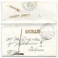 DA GUALDO TADINO A FABRIANO - 24.7.1847 - 1. ...-1850 Prephilately