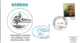 Bruxelles Kano 1987 - Inaugural Flight 1er Vol Erstflug Primo Volo -  SABENA Airbus A 310 - Nigeria - Gazelle - Posta Aerea