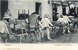 Cpa MEXICO - Cargadores Con Parihuelas -  Déménagement - Mexiko