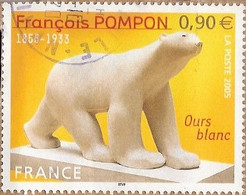 France - YT 3806 (Oblitéré) - Francois POMPON, Sculpteur - L'Ours Blanc (2005) - Usados