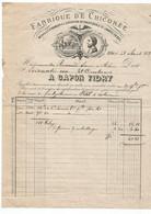 ETHE -  Bakèse . 4 Factures De : Fabrique De Chicorées ; 1883( 2X)  1884 Et 1919 Capon-Fidry Et Antoine Frères - 1800 – 1899