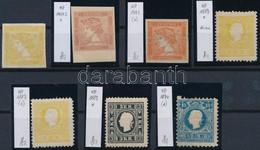 (*), * 1851-1858 7 Db újnyomat / 7 Reprints - Unclassified