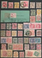 O 1874-1899 Szép Lebélyegzések 465 Db Krajcáros Bélyegen, Közte Sok Ritka / Collection Of 465 Nice Cancellations On Kraj - Unclassified