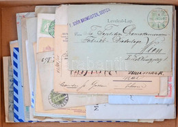 60 Db Küldemény 1874-től, érdekes Anyag / 60 Covers, Postcards From 1874, Interesting Lot - Unclassified